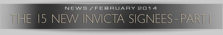 The 15 New Invicta Signees - Pt.1
