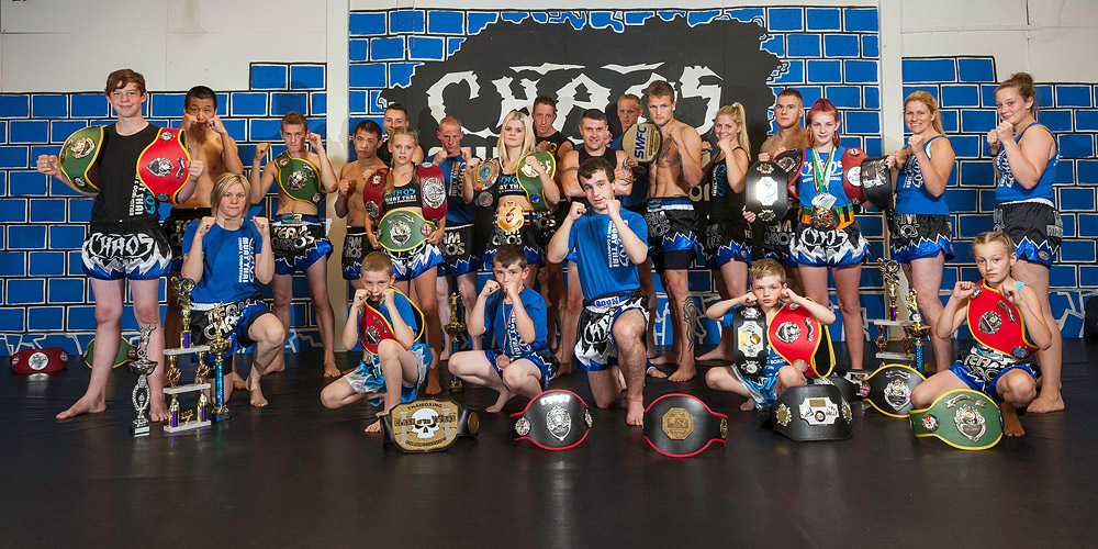 Christi Brereton with the Chaos Muay Thai Fitness and Competition Centre