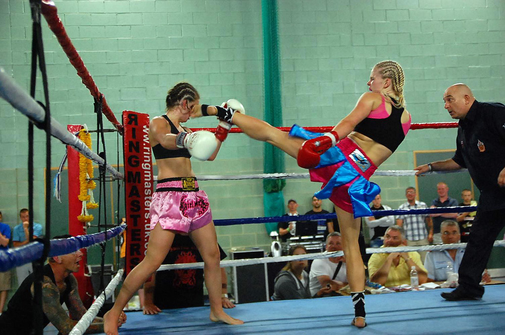 Christi Brereton, Muay Thai Champion, high kick