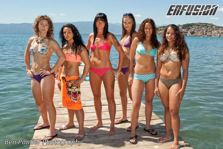 Enfusion Sep 2012 (from left to right) Lindsay Haycraft, Hatice Ozyurt, Julie Kitchen, Lucy Payne, Chajmaa Bellakhal and Denise Kielholtz