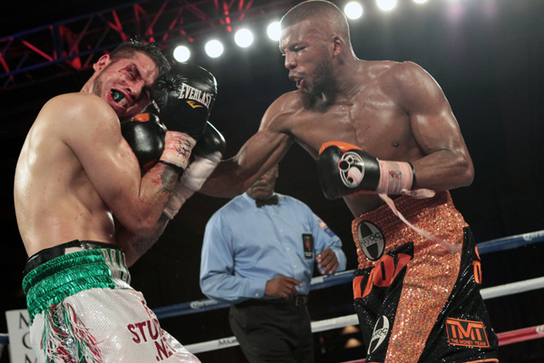 Marco Antonio Periban vs Badou Jack / Photo Credit: Mary Ann Owen