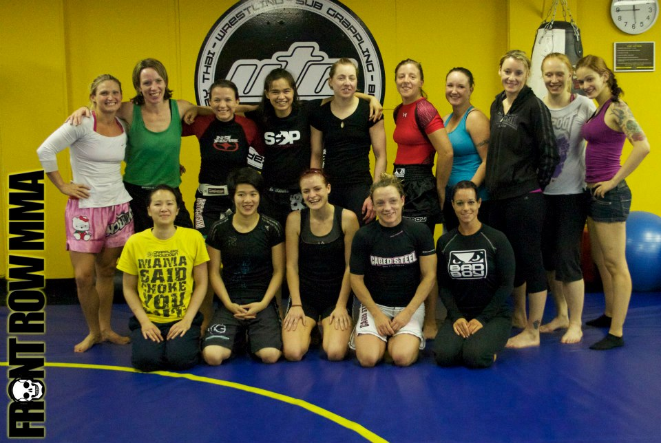 Rosi Sexton MMA Camp in 2012, one her many camps and seminars