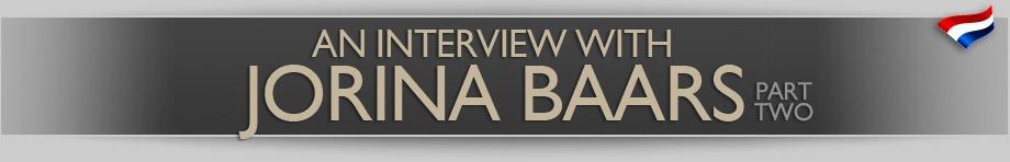 An Interview with Jorina Baars – part 2