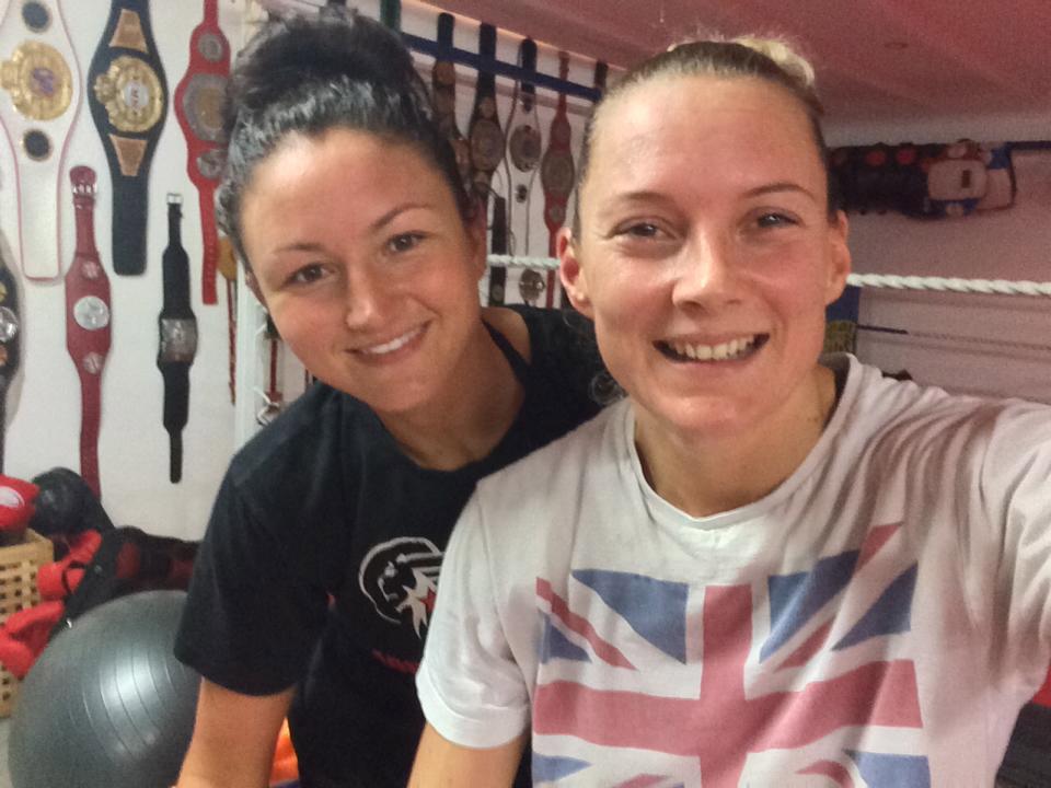 Julie Kitchen and Vicky Church selfie