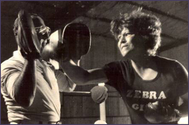 Shirley Tucker with coach Al Lemay