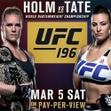 What are Tate's chances against Holm?