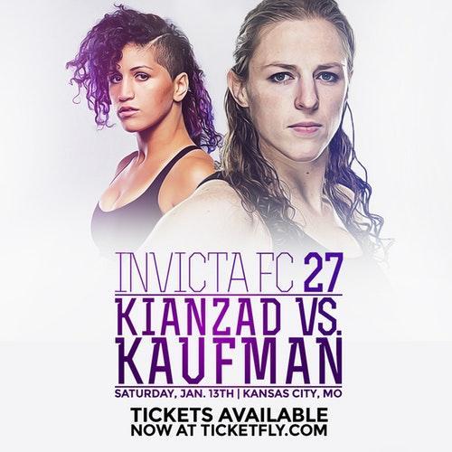 Invicta FC27 Pannie ''Banzai'' Kianzad vs Sarah Kaufman